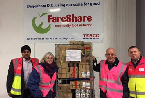 Surplus food from Tesco's supply chain helps millions